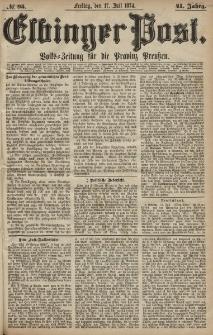 Elbinger Post, Nr. 95, Freitag 17 Juli 1874, 41 Jh