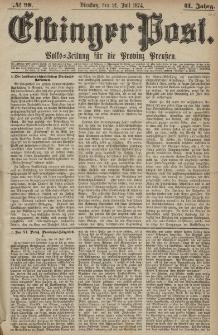 Elbinger Post, Nr. 98, Dienstag 21 Juli 1874, 41 Jh