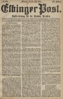 Elbinger Post, Nr. 99, Mittwoch 22 Juli 1874, 41 Jh