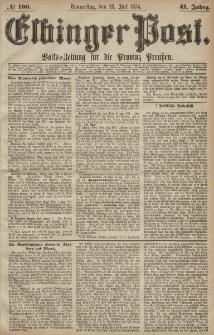 Elbinger Post, Nr. 100, Donnerstag 23 Juli 1874, 41 Jh