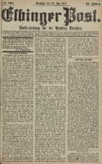 Elbinger Post, Nr. 104, Dienstag 28 Juli 1874, 41 Jh