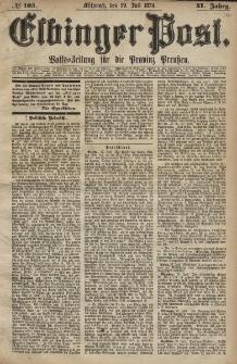 Elbinger Post, Nr. 105, Mittwoch 29 Juli 1874, 41 Jh