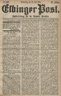 Elbinger Post, Nr. 106, Donnerstag 30 Juli 1874, 41 Jh