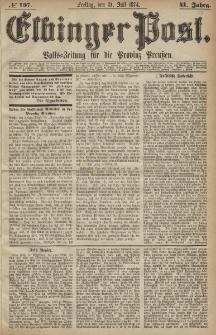 Elbinger Post, Nr. 107, Freitag 31 Juli 1874, 41 Jh