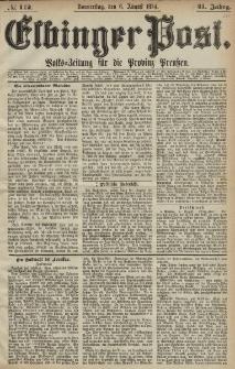 Elbinger Post, Nr. 112, Donnerstag 6 August 1874, 41 Jh