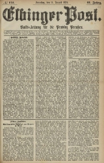 Elbinger Post, Nr. 115, Sonntag 9 August 1874, 41 Jh