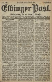 Elbinger Post, Nr. 120, Sonnabend 15 August 1874, 41 Jh