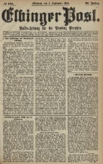 Elbinger Post, Nr. 135, Mittwoch 2 September 1874, 41 Jh