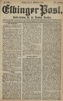 Elbinger Post, Nr. 143, Freitag 11 September 1874, 41 Jh