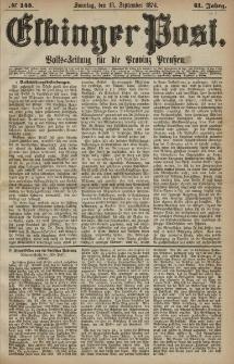 Elbinger Post, Nr. 145, Sonntag 13 September 1874, 41 Jh