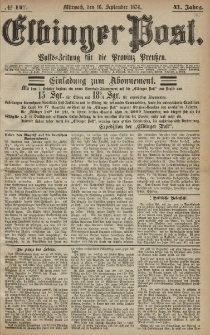 Elbinger Post, Nr. 147, Mittwoch 16 September 1874, 41 Jh