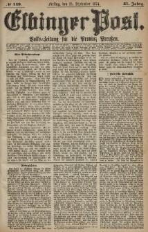 Elbinger Post, Nr. 149, Freitag 18 September 1874, 41 Jh