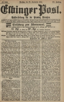 Elbinger Post, Nr. 152, Dienstag 22 September 1874, 41 Jh