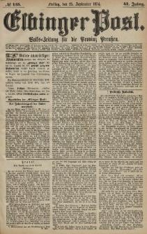 Elbinger Post, Nr. 155, Freitag 25 September 1874, 41 Jh