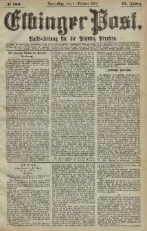 Elbinger Post, Nr. 160, Donnerstag 1 Oktober 1874, 41 Jh