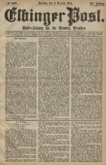 Elbinger Post, Nr. 164, Dienstag 6 Oktober 1874, 41 Jh