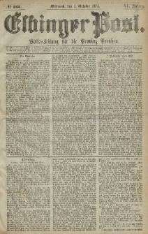 Elbinger Post, Nr. 165, Mittwoch 7 Oktober 1874, 41 Jh