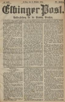 Elbinger Post, Nr. 167, Freitag 9 Oktober 1874, 41 Jh