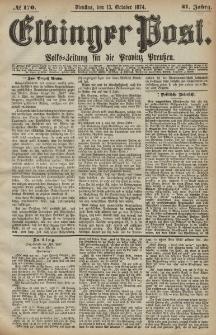 Elbinger Post, Nr. 170, Dienstag 13 Oktober 1874, 41 Jh
