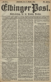 Elbinger Post, Nr. 174, Sonnabend 17 Oktober 1874, 41 Jh
