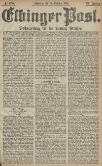 Elbinger Post, Nr. 175, Sonntag 18 Oktober 1874, 41 Jh