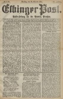 Elbinger Post, Nr. 176, Dienstag 20 Oktober 1874, 41 Jh