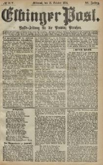 Elbinger Post, Nr. 177, Mittwoch 21 Oktober 1874, 41 Jh