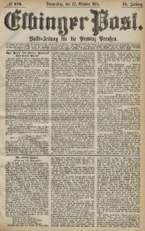Elbinger Post, Nr. 178, Donnerstag 22 Oktober 1874, 41 Jh
