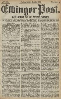 Elbinger Post, Nr. 179, Freitag 23 Oktober 1874, 41 Jh
