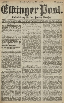 Elbinger Post, Nr. 180, Sonnabend 24 Oktober 1874, 41 Jh