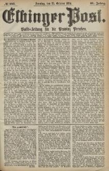Elbinger Post, Nr. 181, Sonntag 25 Oktober 1874, 41 Jh