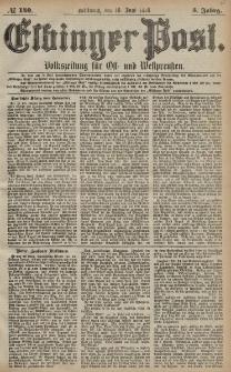 Elbinger Post, Nr. 140 Mittwoch 19 Juni 1878, 5 Jahrg.