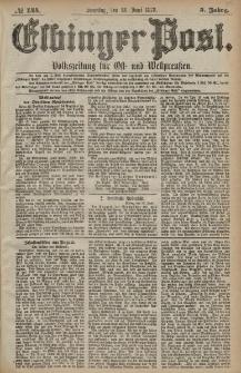 Elbinger Post, Nr. 144 Sonntag 23 Juni 1878, 5 Jahrg.