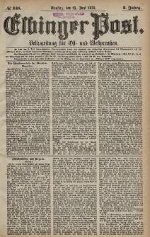 Elbinger Post, Nr. 145 Dienstag 25 Juni 1878, 5 Jahrg.