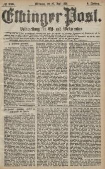 Elbinger Post, Nr. 146 Mittwoch 26 Juni 1878, 5 Jahrg.
