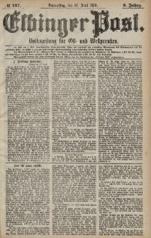 Elbinger Post, Nr. 147 Donnerstag 27 Juni 1878, 5 Jahrg.
