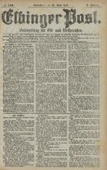 Elbinger Post, Nr. 149 Sonnabend 29 Juni 1878, 5 Jahrg.
