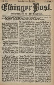 Elbinger Post, Nr. 153 Donnerstag 4 Juli 1878, 5 Jahrg.