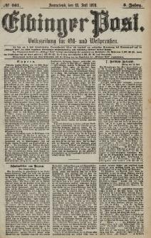 Elbinger Post, Nr. 161 Sonnabend 13 Juli 1878, 5 Jahrg.