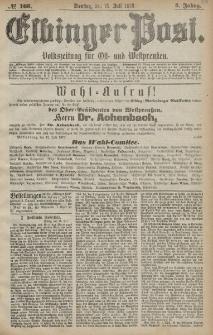 Elbinger Post, Nr. 163 Dienstag 16 Juli 1878, 5 Jahrg.