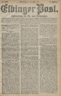 Elbinger Post, Nr. 165 Donnerstag 18 Juli 1878, 5 Jahrg.