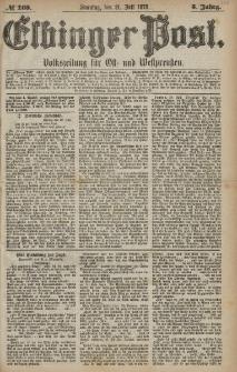 Elbinger Post, Nr. 168 Sonntag 21 Juli 1878, 5 Jahrg.
