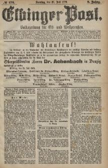 Elbinger Post, Nr. 174 Sonntag 28 Juli 1878, 5 Jahrg.