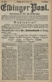 Elbinger Post, Nr. 175 Dienstag 30 Juli 1878, 5 Jahrg.