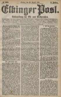 Elbinger Post, Nr. 202 Freitag 30 August 1878, 5 Jahrg.