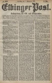 Elbinger Post, Nr. 204 Sonntag 1 September 1878, 5 Jahrg.