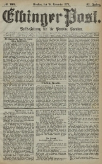 Elbinger Post, Nr. 194, Dienstag 10 November 1874, 41 Jh