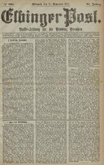 Elbinger Post, Nr. 195, Mittwoch 11 November 1874, 41 Jh