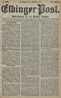 Elbinger Post, Nr. 205, Sonntag 22 November 1874, 41 Jh