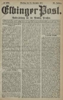 Elbinger Post, Nr. 206, Dienstag 24 November 1874, 41 Jh